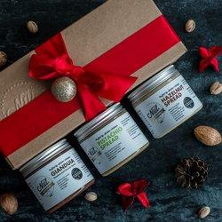 'Spread the Love' Artisan Nut Spreads Gift Box - Gianduja (Chocolate Hazelnut), Pistachio & Hazelnut