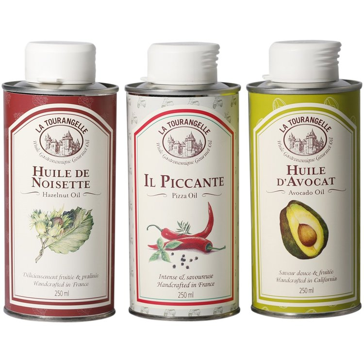 Avocado, Piccante & Hazelnut Oil Trio 3 x 250ml