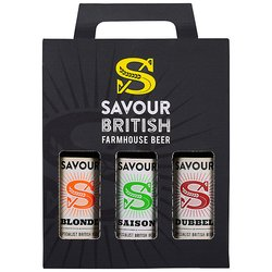 British Farmhouse Beer Gift Pack by Savour Beer with Blonde, Saison & Dubbel Beers