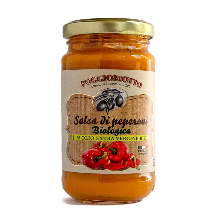 Organic Italian Pepper Sauce 210g (for Pasta, Rice or Dipping)