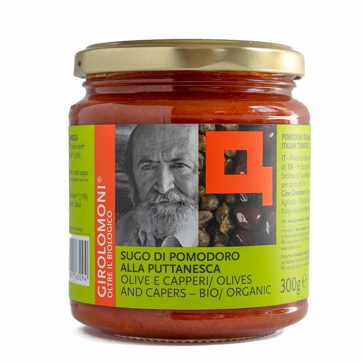 Organic Puttanesca Tomato Sauce with Olives & Capers 300g