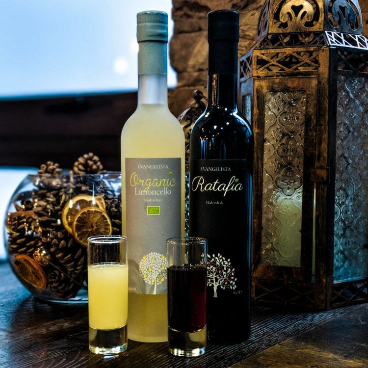 'An Italian Christmas' Organic Limoncello & Ratafia Liqueur by Evangelista