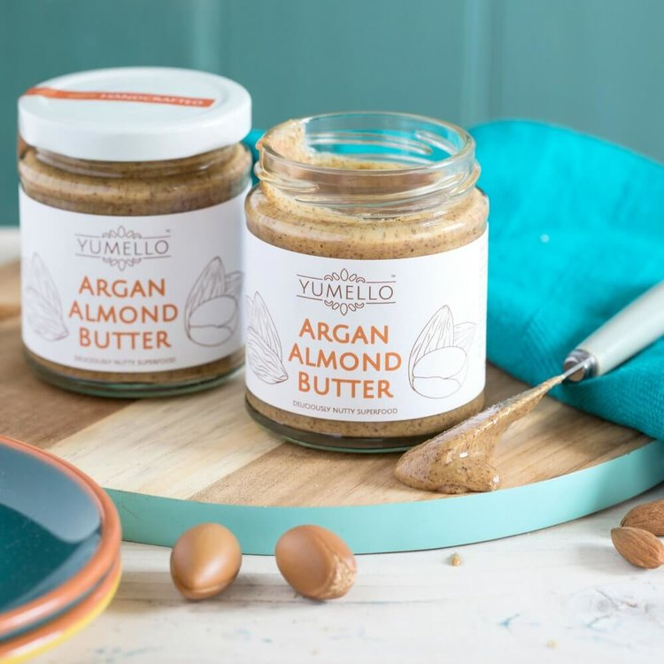 Smooth Moroccan Almond Butter with Argan Oil and Honey Set 2 x 170g