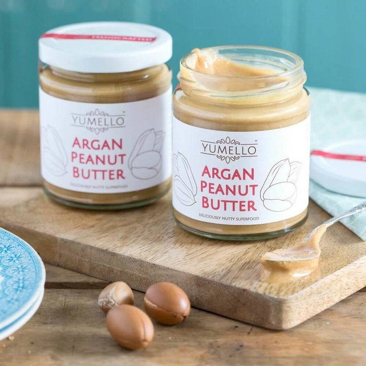 Smooth Peanut Butter with Argan Oil and Honey 2 x 170g