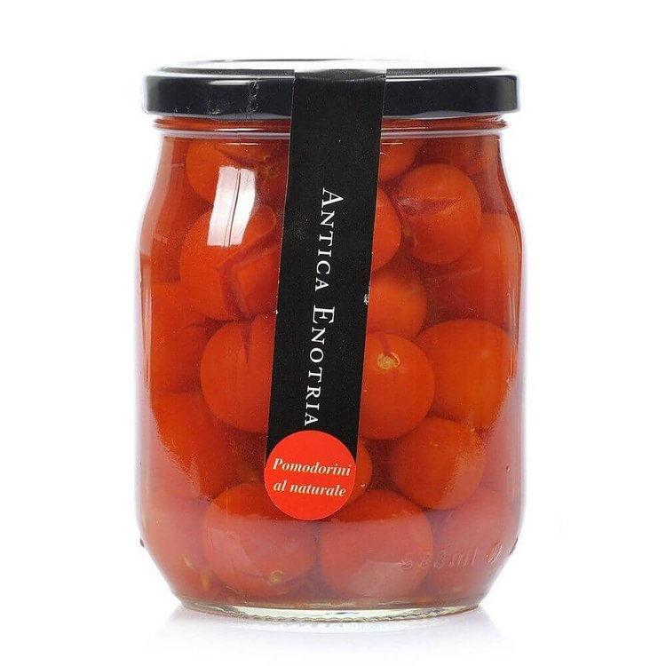 Organic Whole Italian Cherry Tomatoes in Natural Spring Water 580g