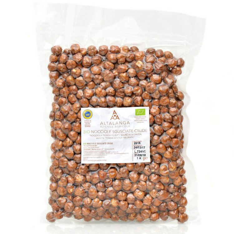 1kg Organic Italian Raw Piedmont Hazelnuts PGI
