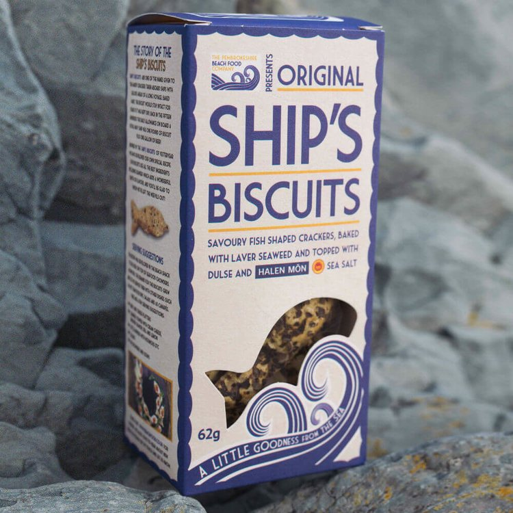 'Ship's Biscuits' Fish Shaped Wheat Crackers with Seaweed 62g