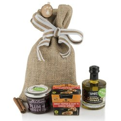 Greek 'Secrets' Gift Set with Truffle Infused Olive Oil, Plum Spread & Red Pepper Spread