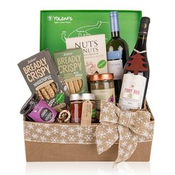 Greek 'Christmas Spirit' Gift Set Inc. Wine, Pistachios, Spreads & Jams