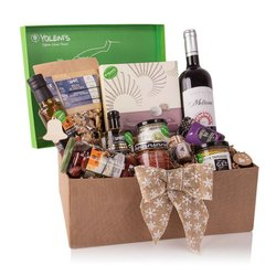 Greek 'Holiday Feast' Gift Set Inc. Wine, Truffle Olive Oil, 'Kourabiedes' Cookies & Olives