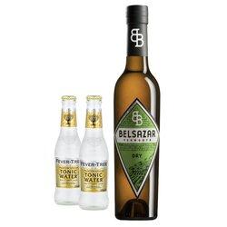 Belsazar Dry & Tonic Gift Set - Dry Vermouth Aperitif 375ml & Fever-Tree Tonic