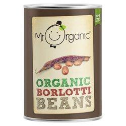 Organic Borlotti Beans in Water 400g by Mr Organic