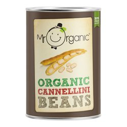 Organic Cannellini Beans in Water 400g by Mr Organic