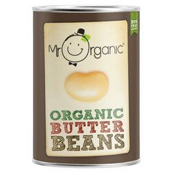 Organic Butter Beans in Water 400g by Mr Organic