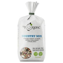 Organic Country Soup Mix 500g Inc. Pearl Barley, Lentils & Peas by Mr Organic