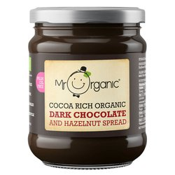 Organic Hazelnut & Dark Chocolate Spread 200g by Mr Organic (Dairy-Free)