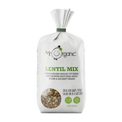Organic Dried Lentil Mix 500g Inc. Pearl Barley, Peas & Mung Beans by Mr Organic