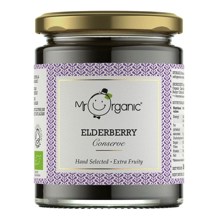 Organic Elderberry Conserve 360g by Mr Organic