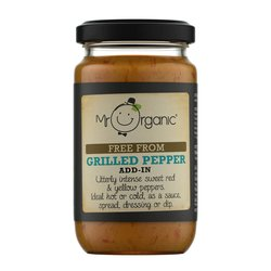 Organic Grilled Pepper Add-In Sauce 190g by Mr Organic (For Pesto, Sauces & Spreads)