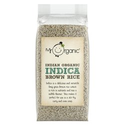 Organic Indica Brown Rice 500g by Mr Organic (For Curry, Stir-Fry & Soup)