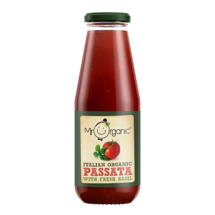 Organic Italian Tomato Passata with Basil 690g by Mr Organic