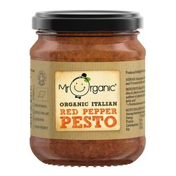 Organic Italian Red Pepper Pesto 130g by Mr Organic