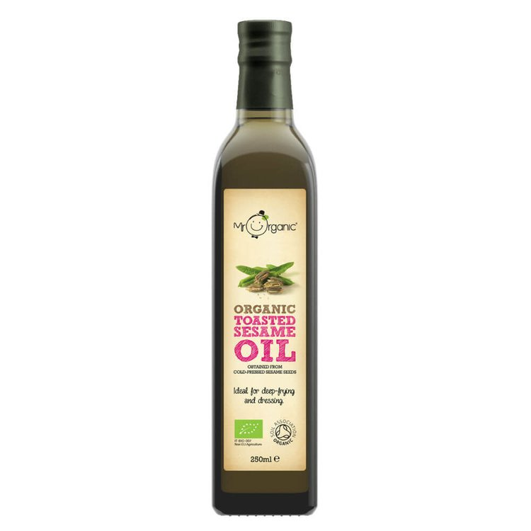 Organic Toasted Sesame Oil 250ml by Mr Organic