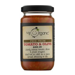 Organic Tomato & Olive Add-In Sauce 190g by Mr Organic (For Pesto, Sauces & Spreads)