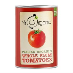 Organic Italian Peeled Whole Plum Tomatoes 400g by Mr Organic