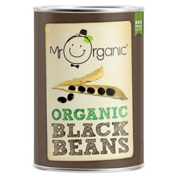 Organic Black Beans in Water 400g by Mr Organic