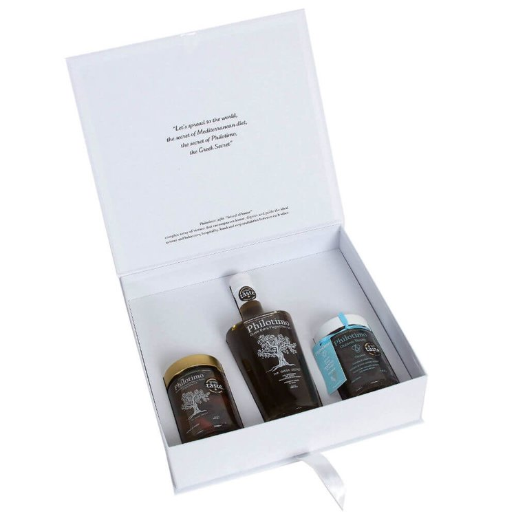 Ultimate Premium Greek Artisan Gift Box with Olive Oil, Honey & Olives