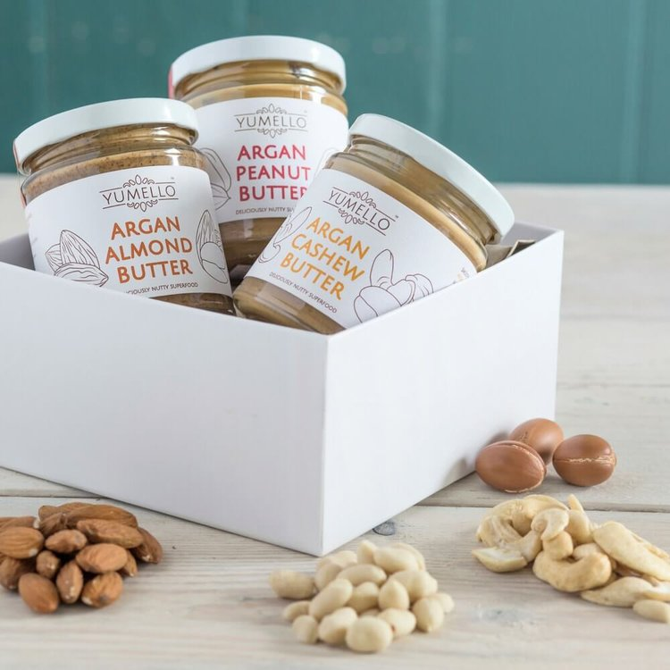 Smooth Nut Butter with Argan Oil Gift Box 3 x 170g