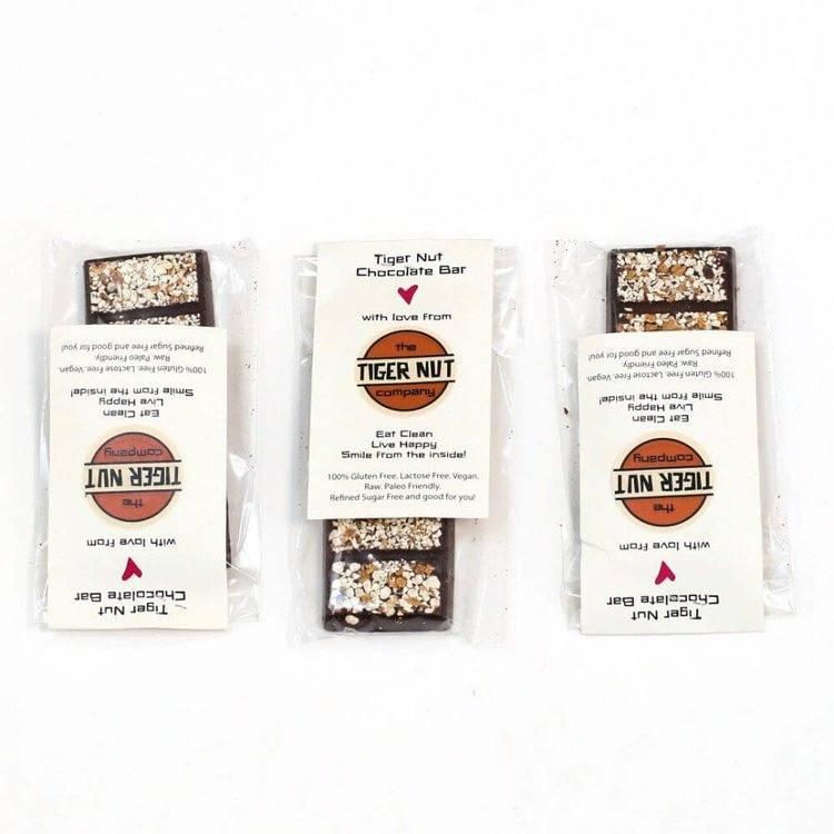 3 Raw Chocolate and Tiger Nut Bars (3 x 55g)