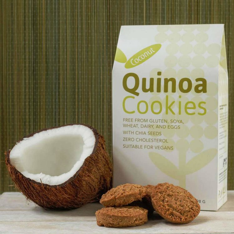 Coconut Quinoa Baked Cookies with Vanilla 198g (Pack of 12)