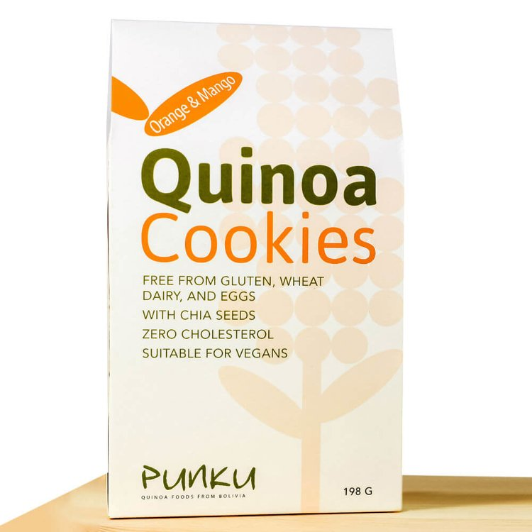 Orange & Mango Quinoa Baked Cookies 198g (Pack of 12)