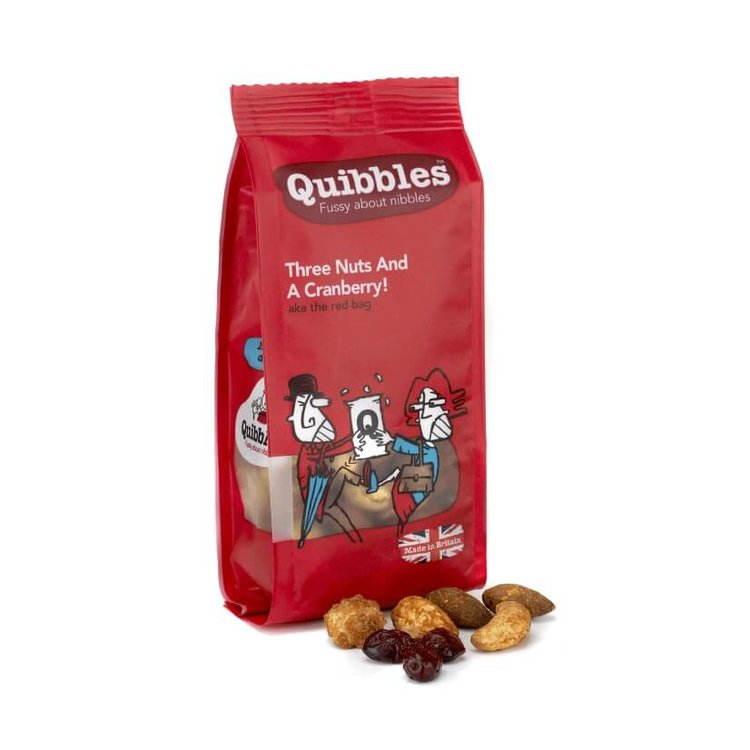 12 x 'Three Nuts & A Cranberry' Baked Nuts & Cranberries with Chilli Snack Packs 100g