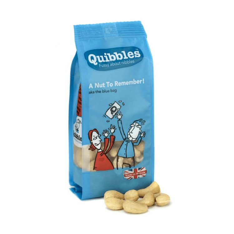 12 x 'A Nut to Remember' Baked Cashews with Rapeseed Oil & Salt Snack Packs 100g