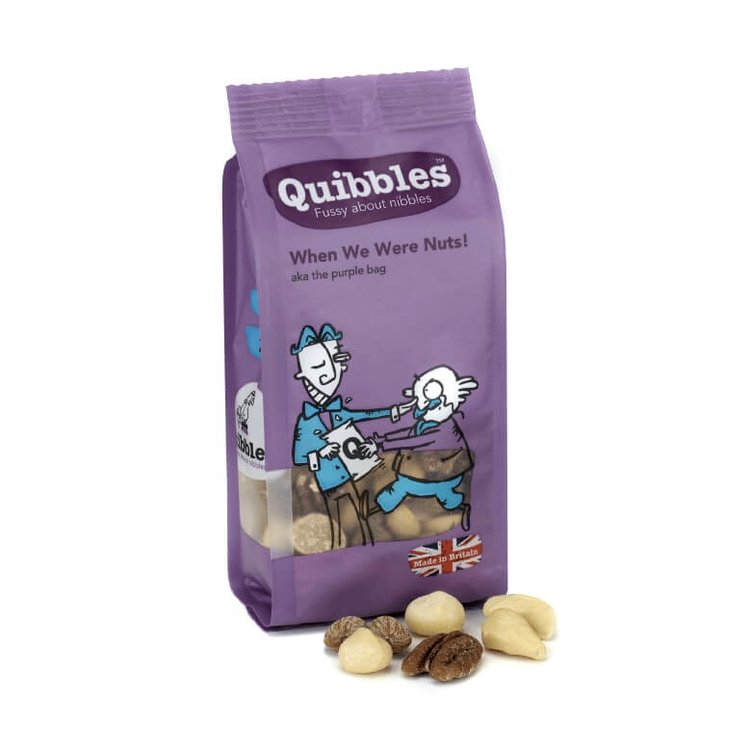 12 x 'When We Were Nuts' Baked Nuts with Rapeseed Oil Snack Packs 100g
