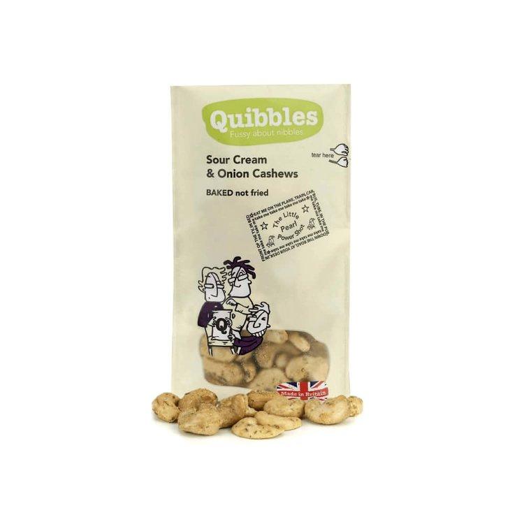 28 x Sour Cream Onion Cashews Snack Packs 30g