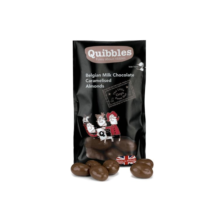 28 x Belgian Chocolate Caramelised Almonds Snack Packs 35g