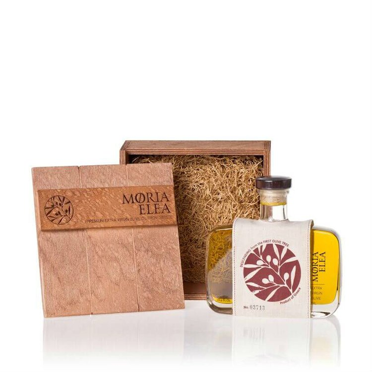 Premium Extra Virgin Olive Oil Gift Box 'Moria Elea Deluxe' 500ml