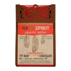 Pomegranate 70% Raw Peruvian Chocolate Bar 30g