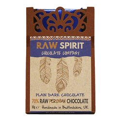 70% Raw Peruvian Dark Chocolate Bar 30g