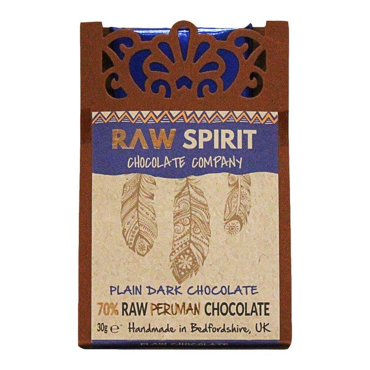 70% Raw Peruvian Dark Chocolate Bar 30g
