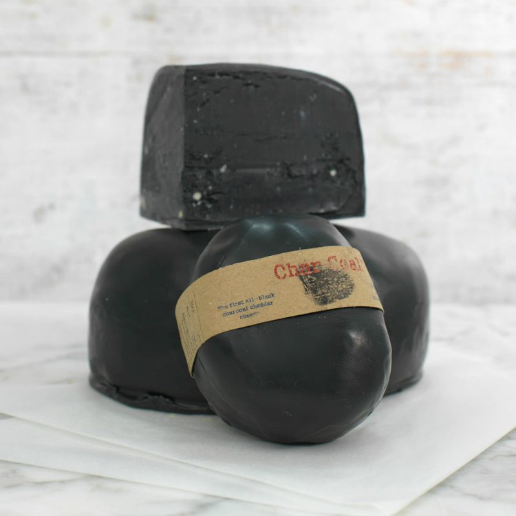 Black Charcoal Mature Cheddar Cheese 200g by Michael Lees Fine Cheese