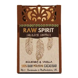 Mulberries & Vanilla 100% Raw Peruvian Chocolate Bar 30g