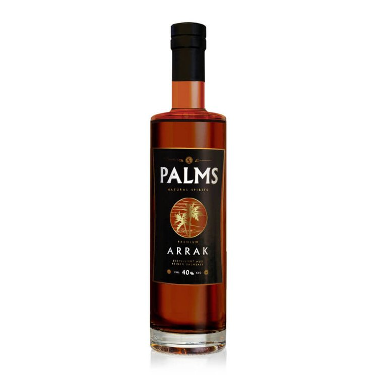 Premium Distilled Arrak Spirit by PALMS 700ml 40% Vol. (Aged 3 Years)