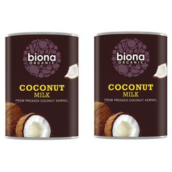 2 x Organic Coconut Milk 400ml by Biona