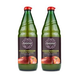2 x Biona 750ml Organic Apple Cider Vinegar with 'the Mother'