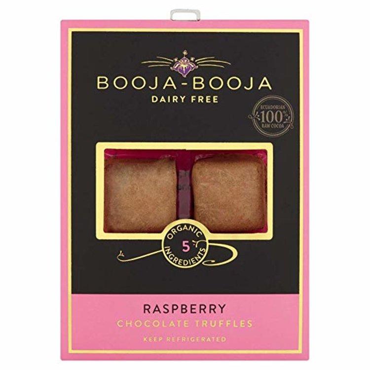 Raspberry Organic Chocolate Truffles 69g by Booja-Booja (Dairy Free, Vegan)